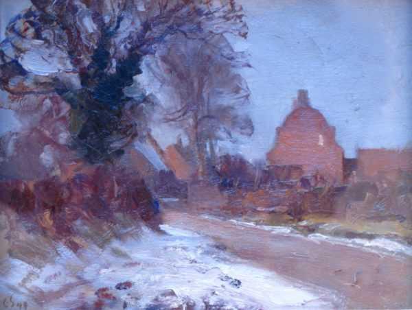 Sell Edward Seago's House oil painting - Robert Perera Fine Art