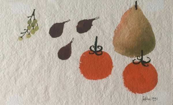 Sell Mary Fedden Fruit watercolour - Robert Perea Fine Art Ltd