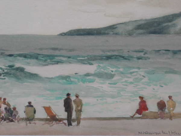 Beach Scene by artist Norman Wilkinson - Robert Perea Fine Art Ltd.