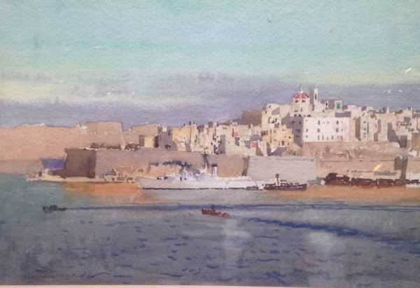 Malta by artist Norman Wilkinson - Robert Perera Fine Art Ltd.