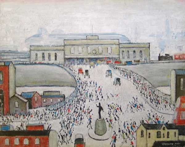 Station Approach, LS Lowry, Signed Limited Edition Print Value - Robert Perera Fine Art