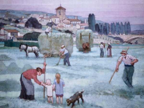 Adolphe Valette Farm oil , Manchester artist- Robert Perera Fine Art Ltd