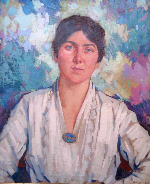 Adolphe Valette Portrait sell artist Robert Perera Fine Art Ltd