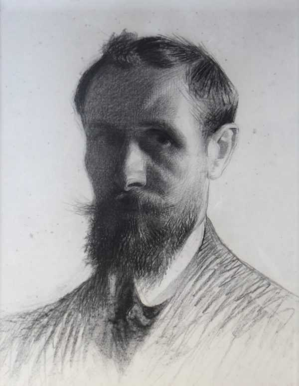 Adolphe Valette Self Portrait Manchester sell artist Robert Perera Fine Art Ltd