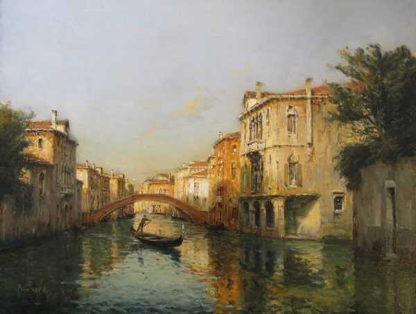 Antoine Bouvard Venice oil valuation - Robert Perera Fine Art Ltd
