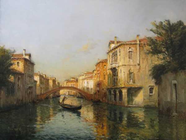 Antoine Bouvard Venice oil valuation - Robert Perera Fine Art Ltd