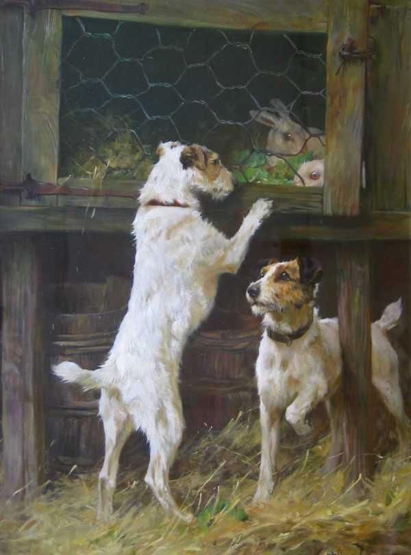 Arthue Wardle Dogs Painting Valuation - Robert Perera Fine Art Ltd