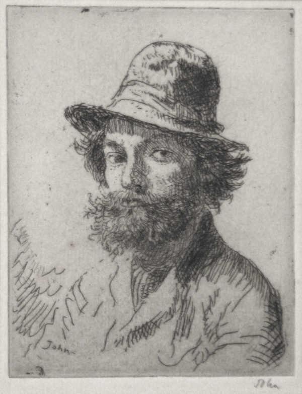 Value Augustus John Self Portrait sell artist Robert Perera Fine Art Ltd