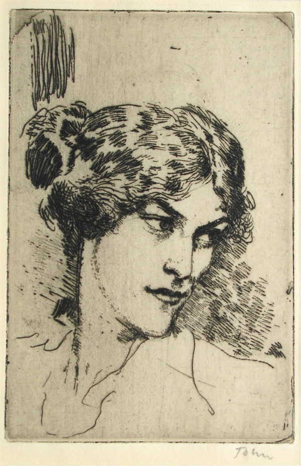 Sell Augustus John etching sell artist Robert Perera Fine Art
