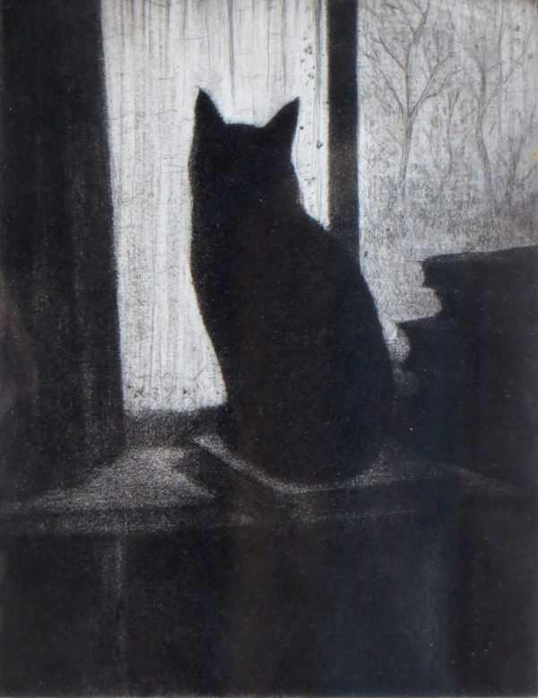 CRW Nevinson Cat etching Robert Perera Fine Art Ltd