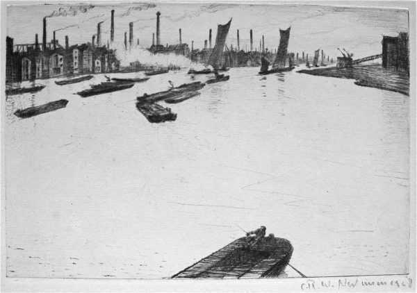 CRW Nevinson Thames sell artist Robert Perera Fine Art Ltd
