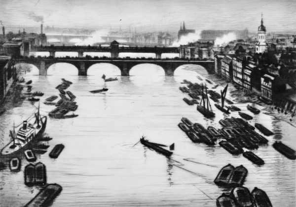 CRW Nevinson oil artist sell art to Robert Perera Fine Art