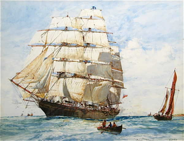 Charles Dixon Cutty Sark sell artist Robert Perera Fine Art
