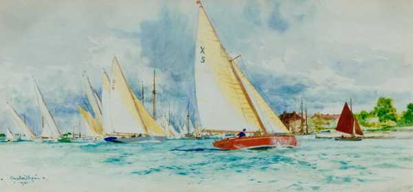 Charles Dixon Xboat sell artist Robert Perera Fine Art Ltd