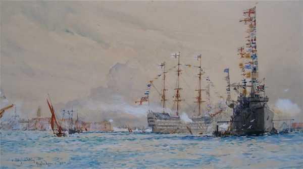 Charles Dixon HMS Victory sell artist Robert Perera Fine Art Ltd