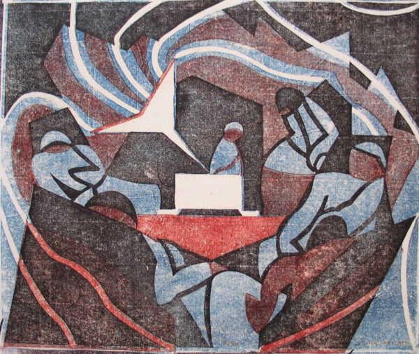 Claude Flight Linocut sell art to Robert Perera