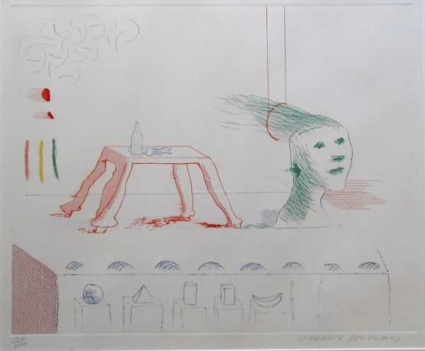 David Hockney etching artist sell art to Robert Perera Fine