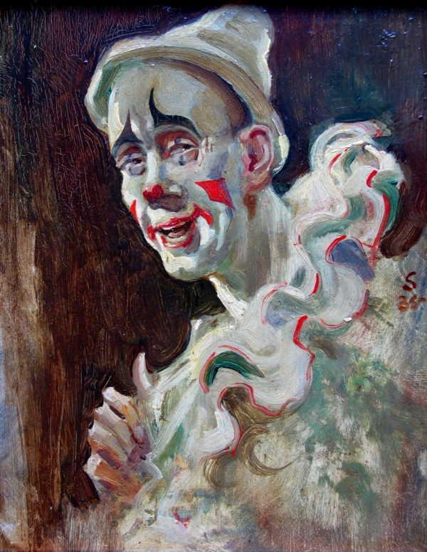 Edward Seago Clown sell artist Robert Perera Fine Art Ltd