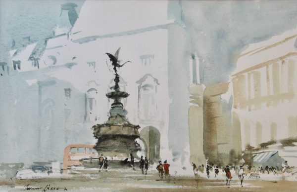 Sell Edward Wesson London watercolour - Robert Perera Fine Art Ltd