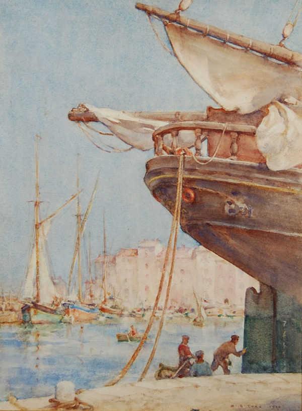 Sell Henry Scott Tuke Harbour Cornish artist - Robert Perera Fine Art Ltd