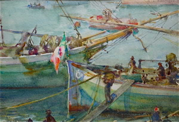 Henry Scott Tuke painting sell art to Robert Perera Fine Art