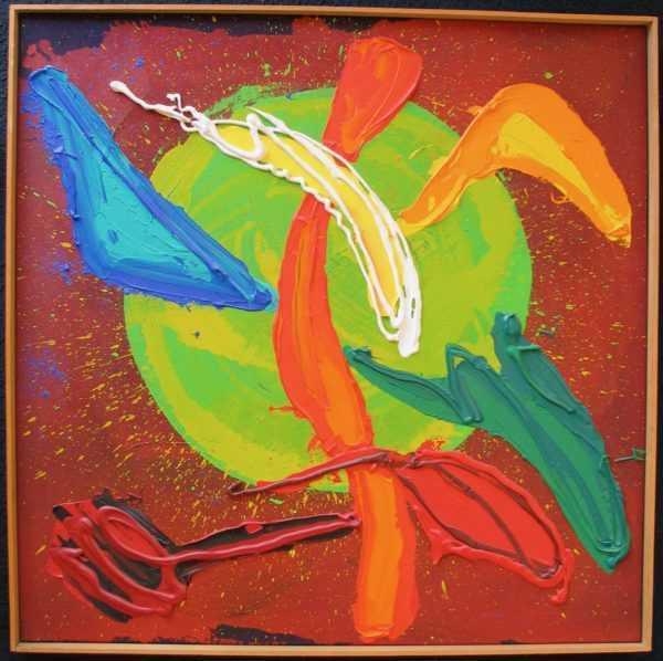 Value John Hoyland oil painting sell art to Robert Perera Fine Art