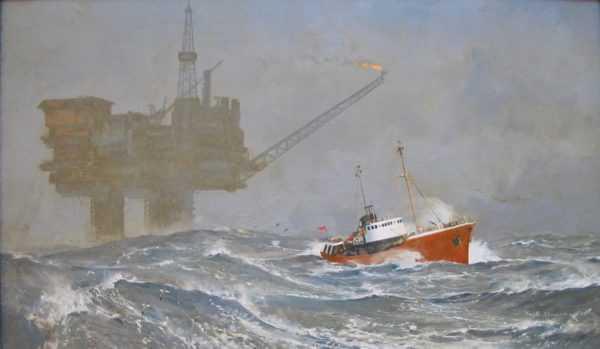 Valuation Keith Shackleton Oil rig sell artist Robert Perera Fine Art