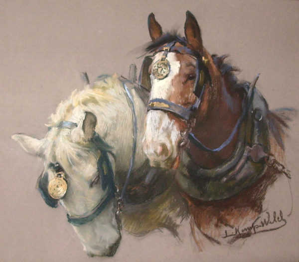 Sell Lucy Kemp-Welch Shire Horses value sell artist Robert Perera Fine Art