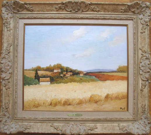Marcel Dyf Cornfield Valuation French artist - Robert Perera Fine Art