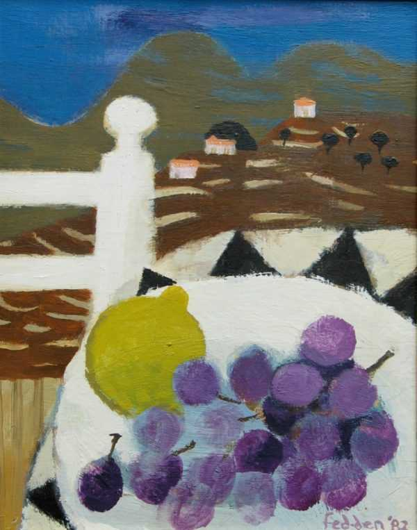Mary Fedden oil sell art to Robert Perera Fine Art