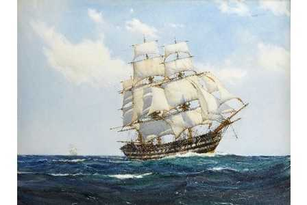 Montague Dawson valuation sell work to Robert Perera Fine Art Ltd