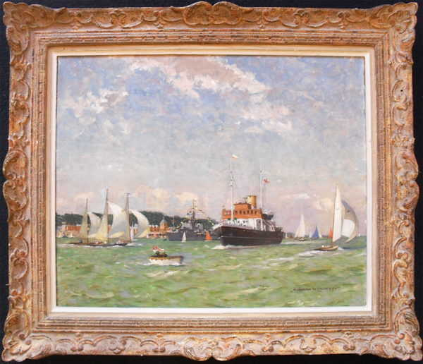 Norman Wilkinson Cowes sell oil Robert Perera Fine Art Ltd