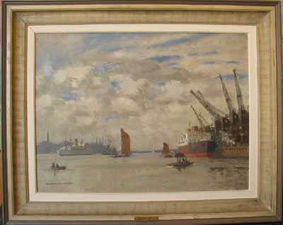 Norman Wilkinson Thames sell artist Robert Perera Fine Art Ltd