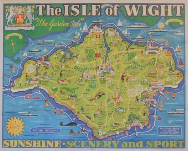 Vintage Railway poster Value Isle of Wight sell art to Robert Perera Fine Art