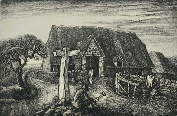 Robin Tanner etching sell art to Robert Perera Fine Art