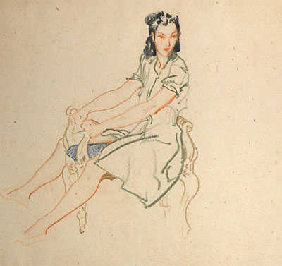 Sir William Russell Flint drawing sell artist Robert Perera Fine Art Ltd