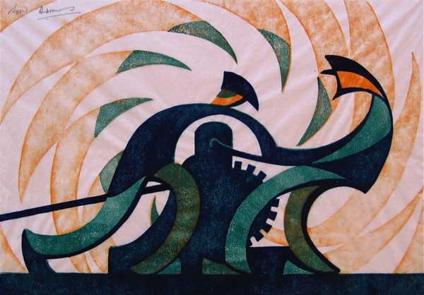 Sell Sybil Andrews Linocut print - Robert Perera Fine Art