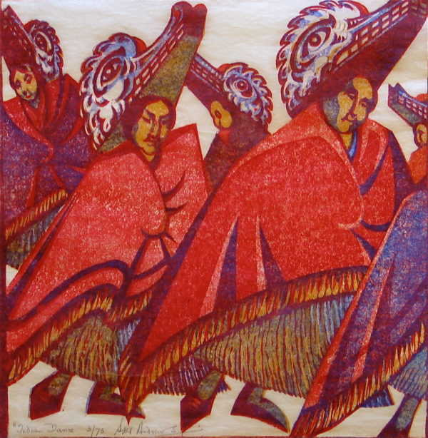 Sybil Andrews Linocut sell art to Robert Perera