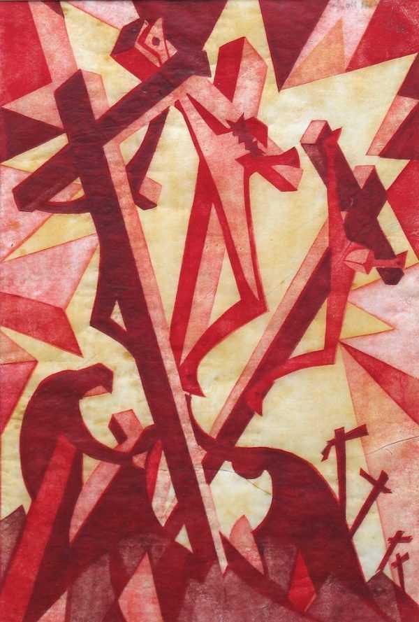 Sybil Andrews linocut sell artist Robert Perera
