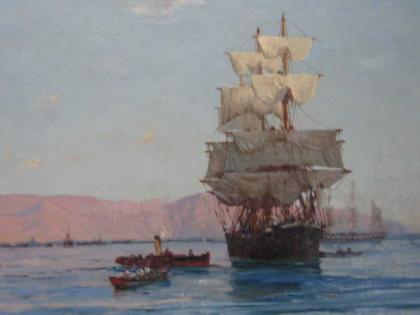 Sell Thomas Somerscales marine oil painting - Robert Perera Fine Art Ltd