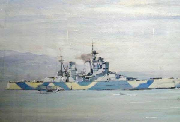Charles Cundall Dazzle Ships - Painting Value - Robert Perera Fine Art Ltd