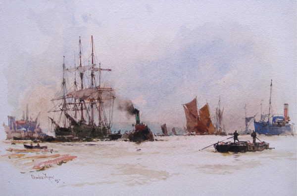 Charles Dixon Thames sell artist Robert Perera Fine Art Ltd