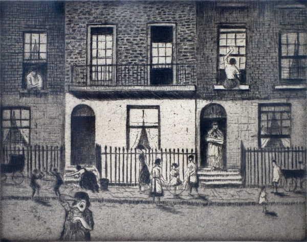 CRW Nevinson Any London Street sell artist Robert Perera Fine Art Ltd