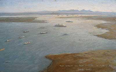 David Cobb Falklands War artwork Wanted Robert Perera Fine Art Ltd