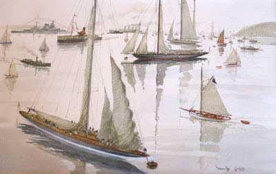 David Cobb J-Class artwork Wanted Robert Perera Fine Art Ltd