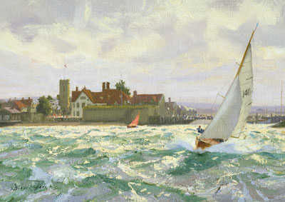 Sell Deryck Foster 'Sailing off Yarmouth' painting Robert Perera Fine Art Ltd