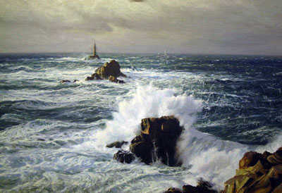 Value Deryck Foster Lighthouse painting Robert Perera Fine Art Ltd