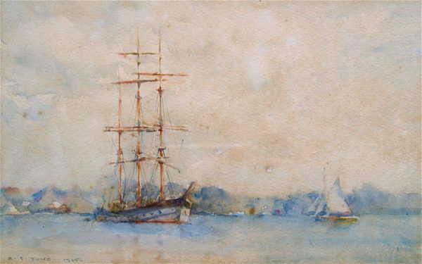 Henry Scott Tuke value Falmouth Harbour Cornish artist - Robert Perera Fine Art Ltd