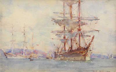 We value Henry Scott Tuke Shipping Cornish artist - Robert Perera Fine Art Ltd