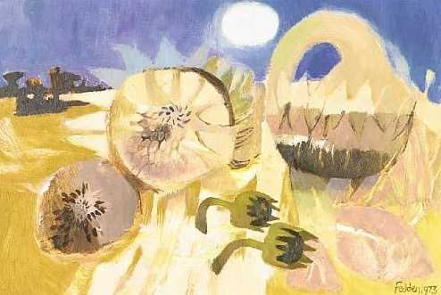 Mary Fedden Sunflowers sell artist Robert Perera Fine Art Ltd